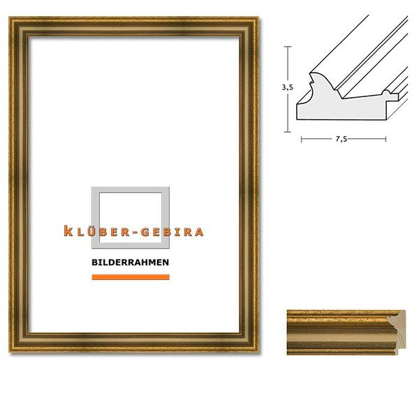 klueber gebira holzrahmen cordoba nach ma alt r tlichgold platte elfenbein. Black Bedroom Furniture Sets. Home Design Ideas