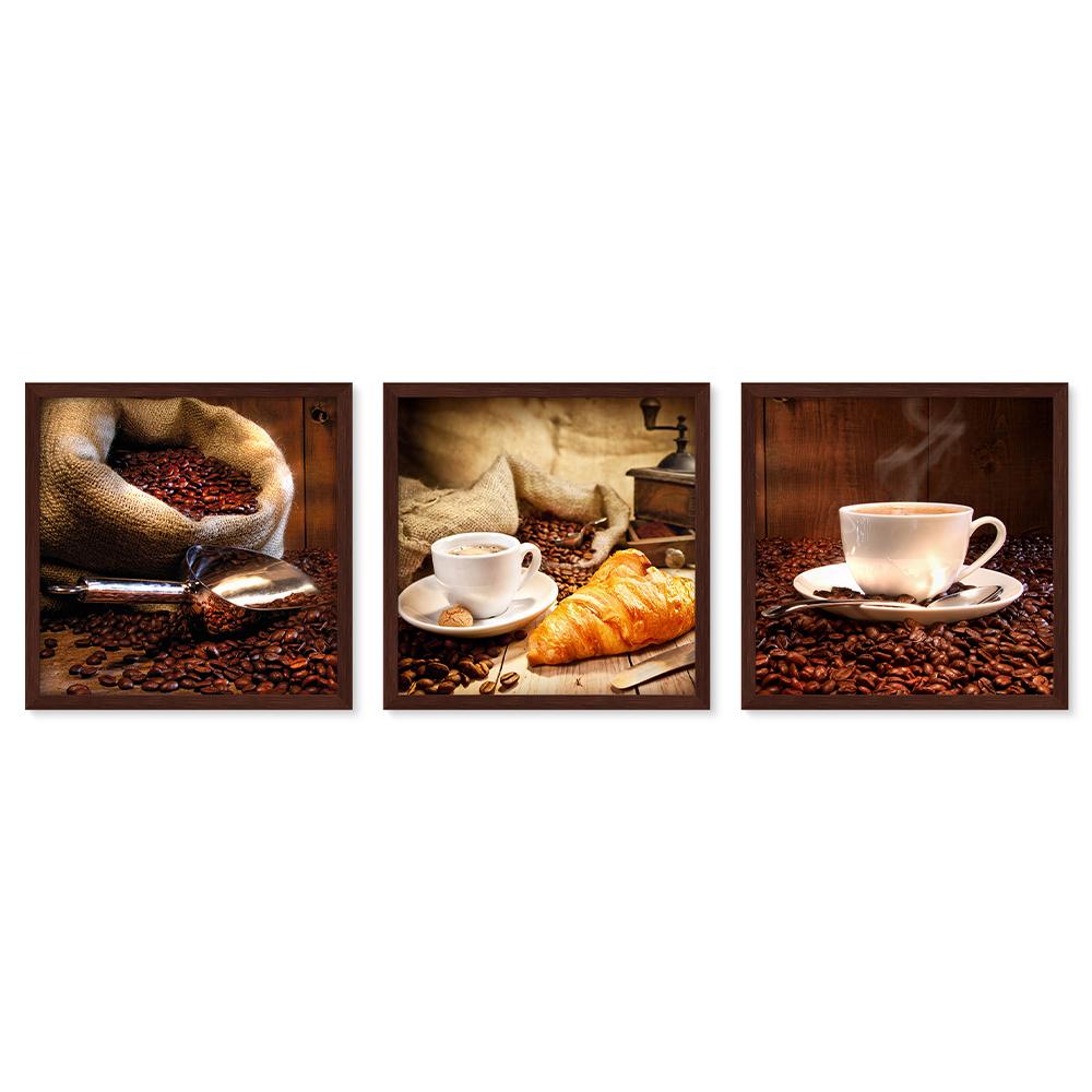 Bilderrahmen Galerie inkl. Poster Breakfast