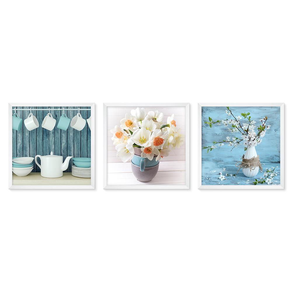 Bilderrahmen Galerie inkl. Poster Flowers