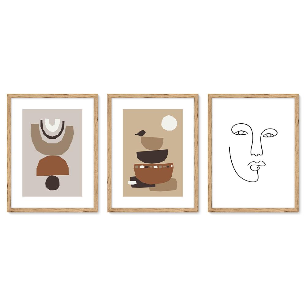 Bilderrahmen Galerie inkl. Poster Face