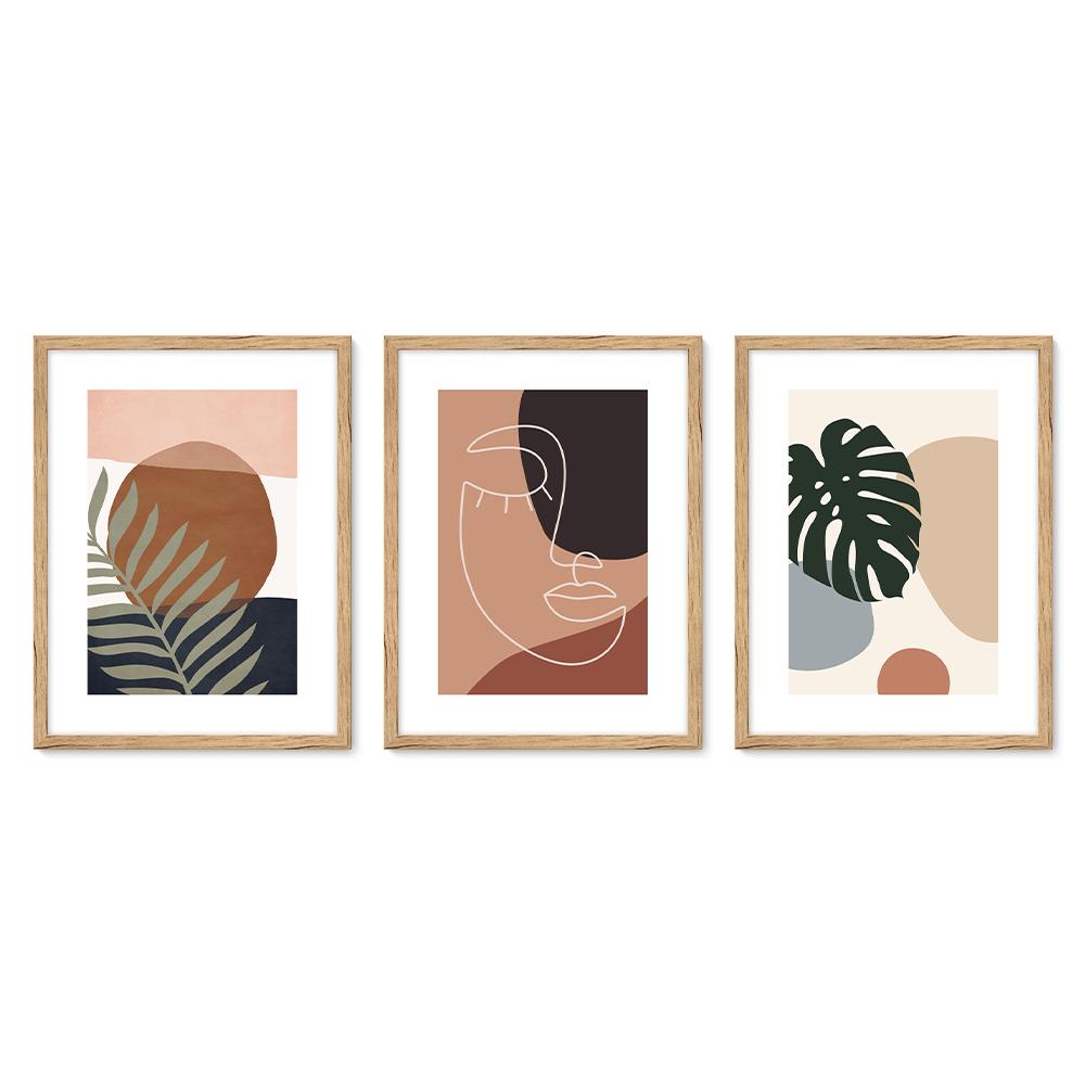 Bilderrahmen Galerie inkl. Poster Palms