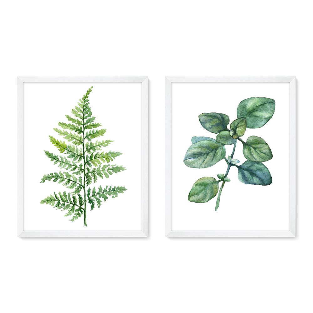 Bilderrahmen Galerie inkl. Poster Leaves