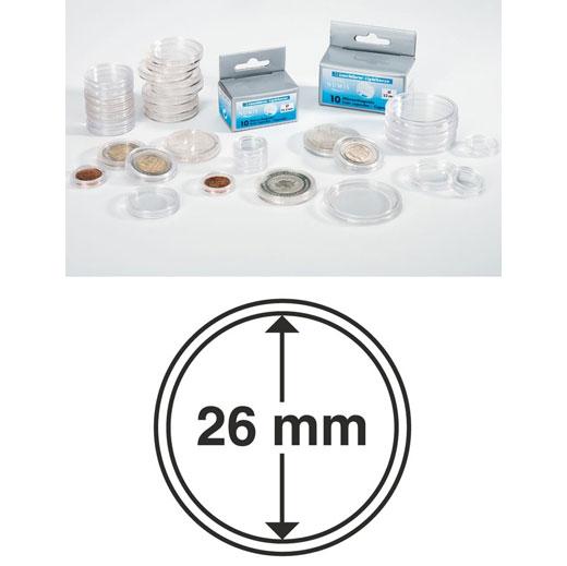 Münzkapseln Innendurchmesser 26 mm
