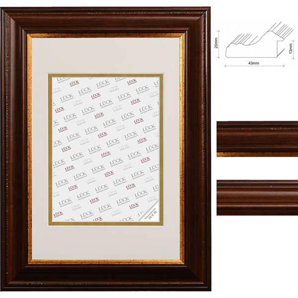 lueck kunststoff bilderrahmen aichwald mit passepartout. Black Bedroom Furniture Sets. Home Design Ideas