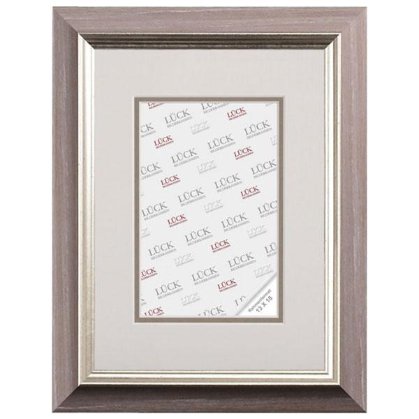 lueck kunststoff bilderrahmen pfaffenhofen mit passepartout 13x18 cm 7x10 cm rot grau. Black Bedroom Furniture Sets. Home Design Ideas