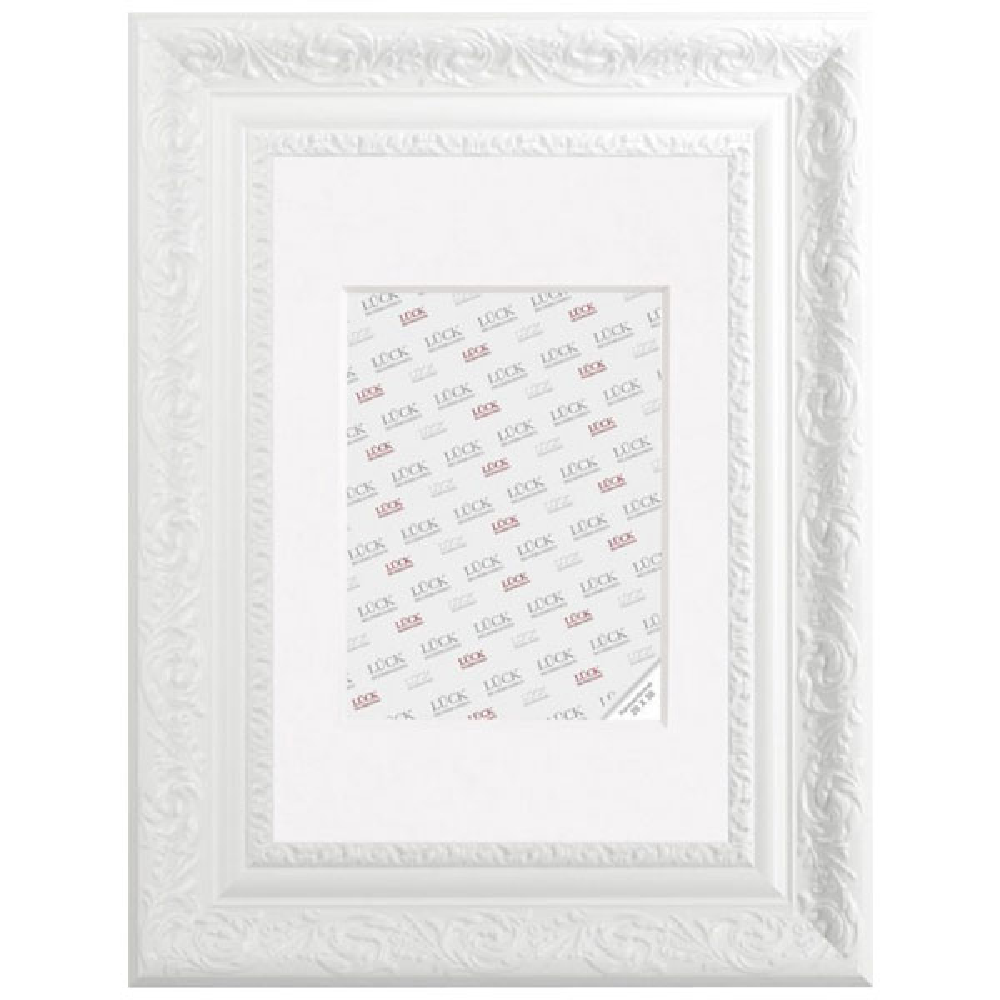 Barock-Bilderrahmen Bingen Weiß