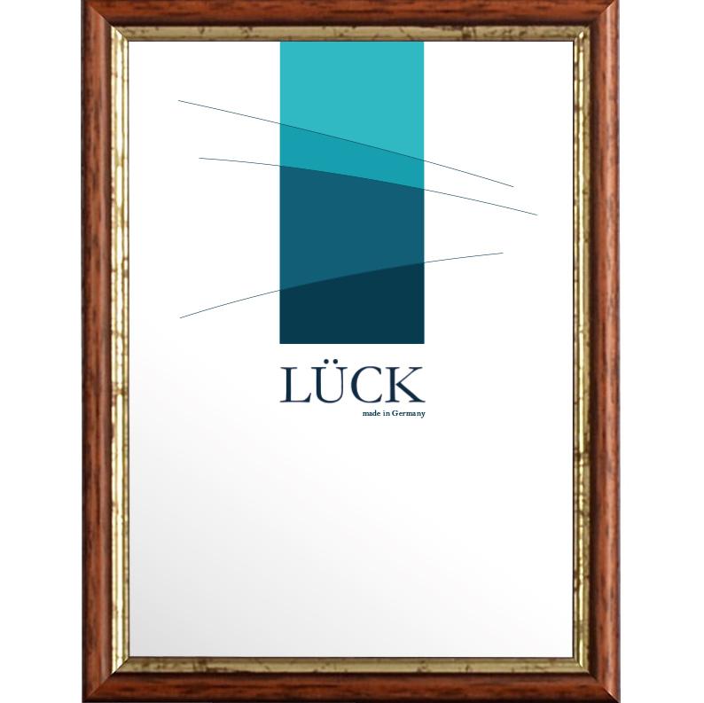 lueck holz bilderrahmen ottenbach 10x15 cm nuss mit goldkante. Black Bedroom Furniture Sets. Home Design Ideas