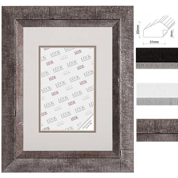 lueck kunststoff bilderrahmen nellingen mit passepartout. Black Bedroom Furniture Sets. Home Design Ideas