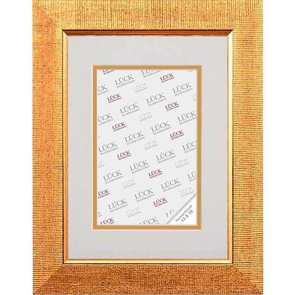 lueck kunststoff bilderrahmen freudental mit doppel passepartout 50x60 cm 40x50 cm gold. Black Bedroom Furniture Sets. Home Design Ideas