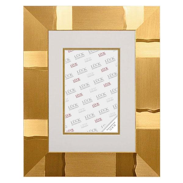 lueck kunststoff bilderrahmen heiningen mit passepartout 18x24 cm 10x15 cm gold design. Black Bedroom Furniture Sets. Home Design Ideas