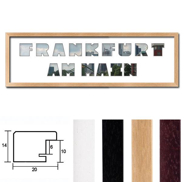"Regiorahmen ""Frankfurt am Main"" mit Passepartout"