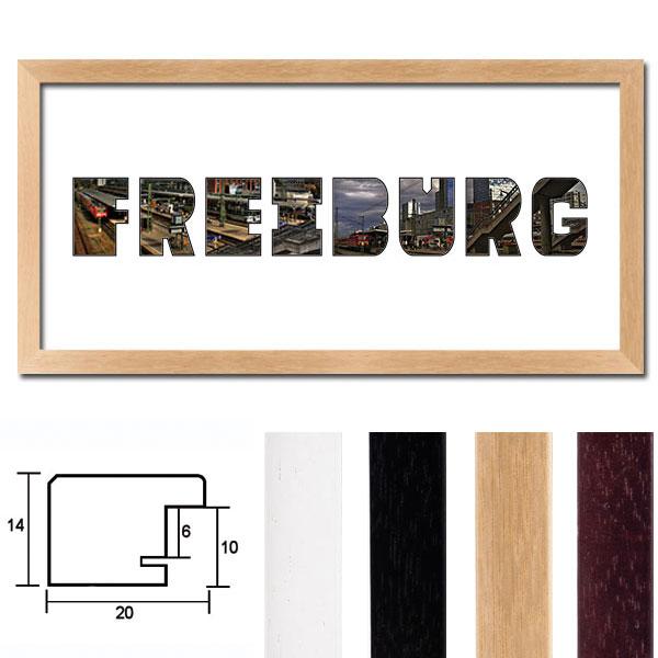 """Regiorahmen """"Freiburg"""" mit Passepartout"""