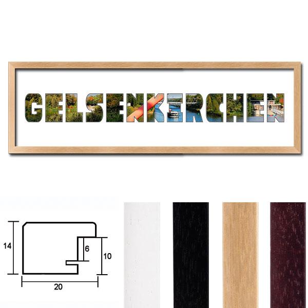 """Regiorahmen """"Gelsenkirchen"""" mit Passepartout"""