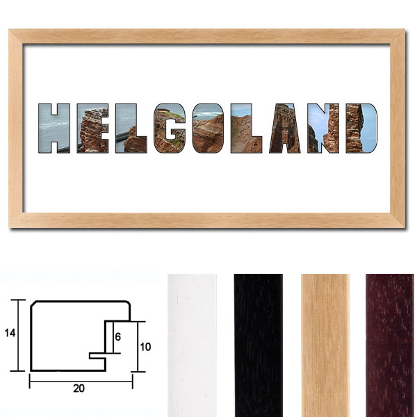 mccut regiorahmen helgoland mit passepartout 25x50 cm. Black Bedroom Furniture Sets. Home Design Ideas