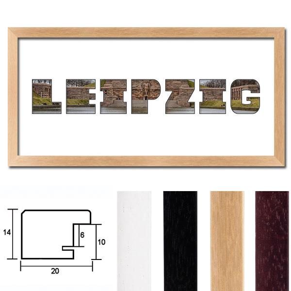 """Regiorahmen """"Leipzig"""" mit Passepartout"""