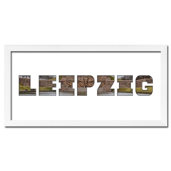 """Regiorahmen """"Leipzig"""" mit Passepartout Weiss"""