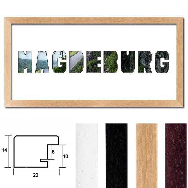 """Regiorahmen """"Magdeburg"""" mit Passepartout"""