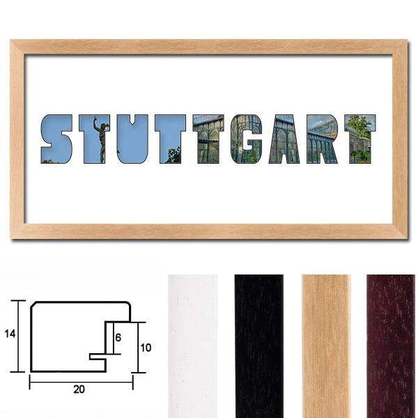 """Regiorahmen """"Stuttgart"""" mit Passepartout"""