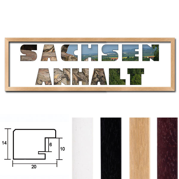"""Regiorahmen """"Sachsen-Anhalt"""" mit Passepartout"""