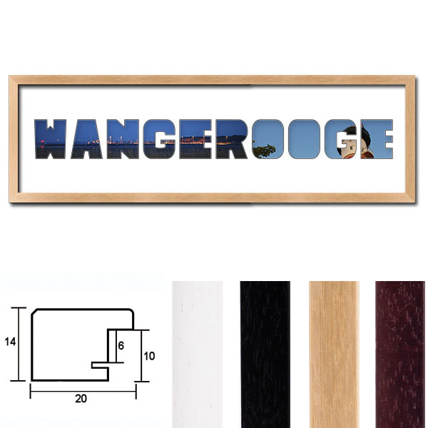 "Regiorahmen ""Wangerooge"" mit Passepartout"