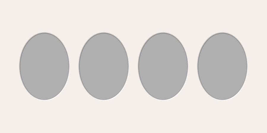 Ovale Ausschnitte 30x60 cm