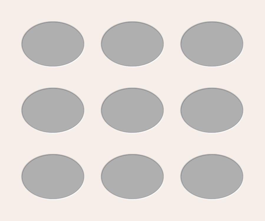 Ovale Ausschnitte 50x60 cm