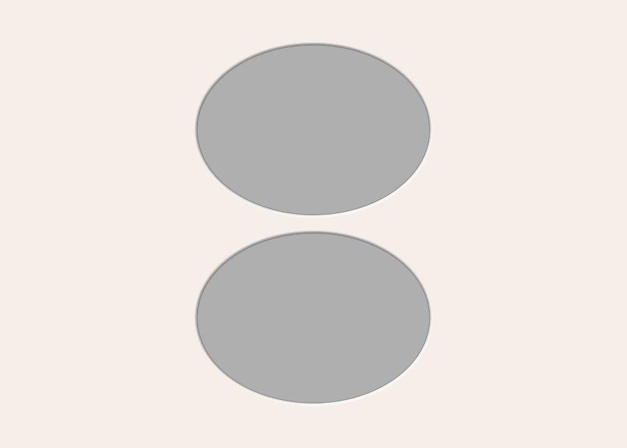 Ovale Ausschnitte 50x70 cm