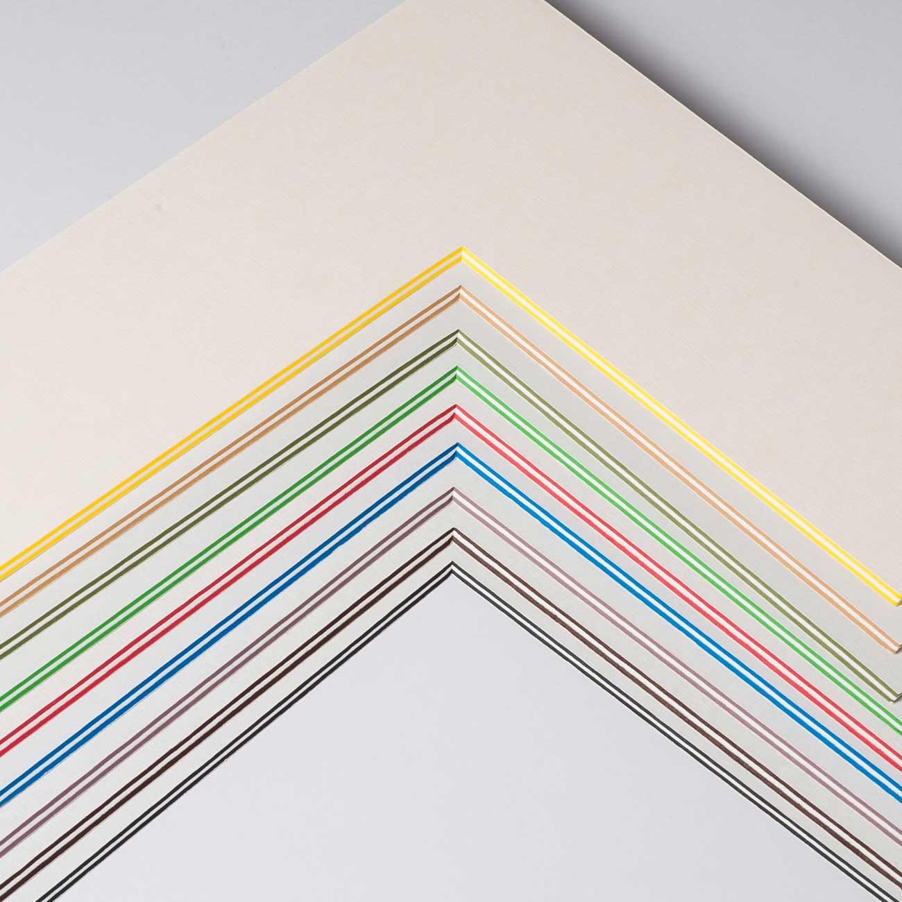 Passepartout mit eigenem Ausschnitt -  ColorCoreStripe 2,2