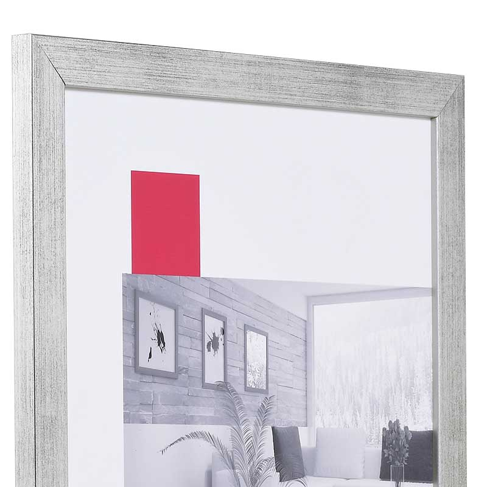 Holz-Bilderrahmen Top Pro Sonderzuschnitt silber