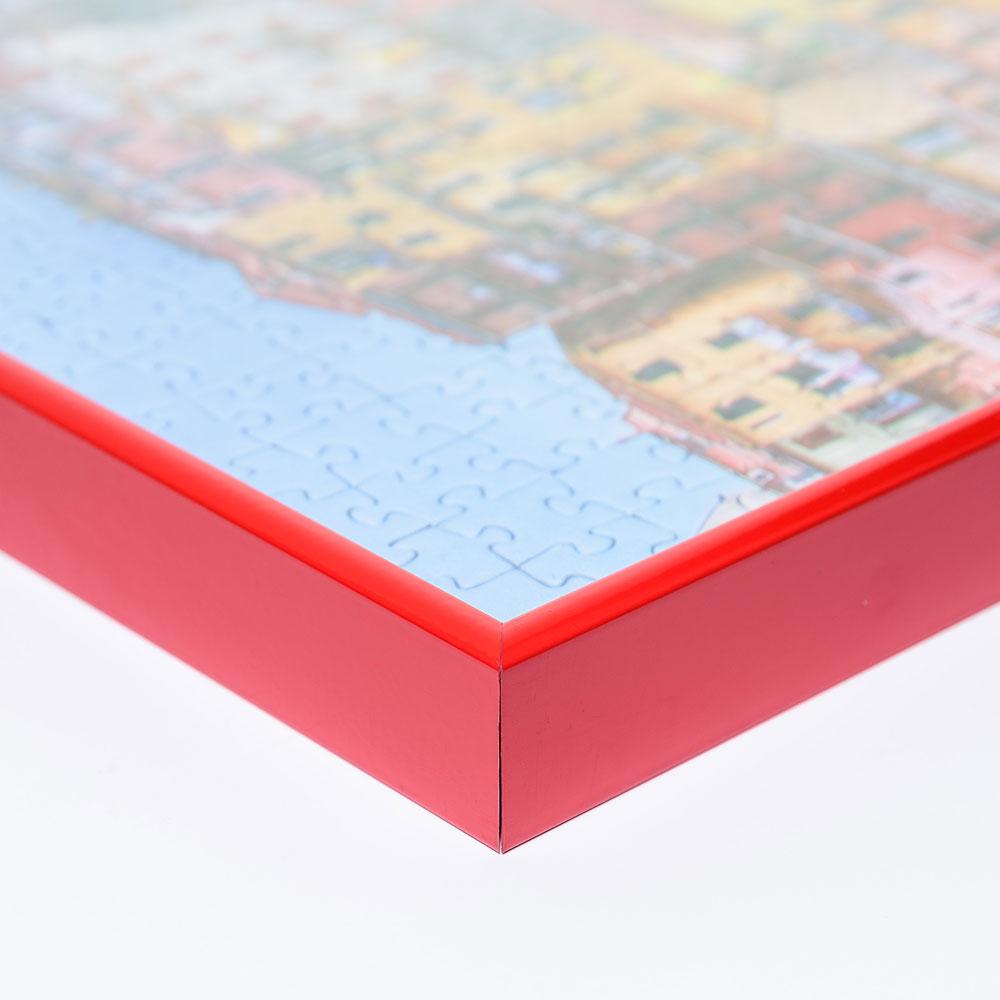 Alu-Puzzlerahmen für 5000 Teile rot RAL 3002