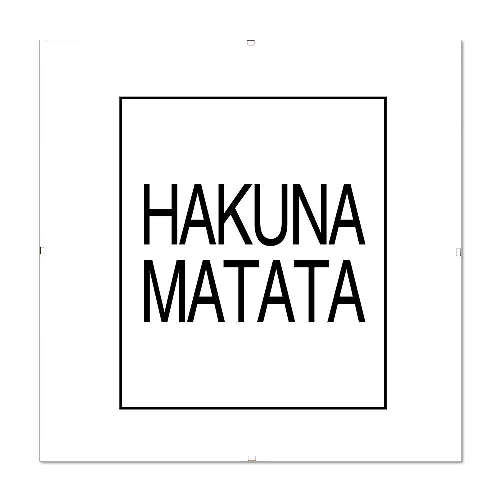 Bilderrahmen mit Spruch - Hakuna Matata