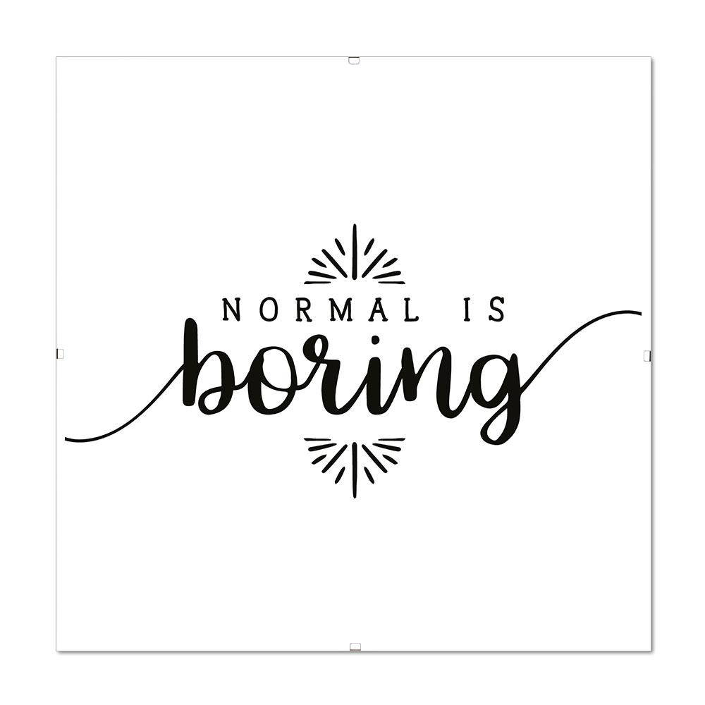 Bilderrahmen Mit Spruch Normal Is Boring 2