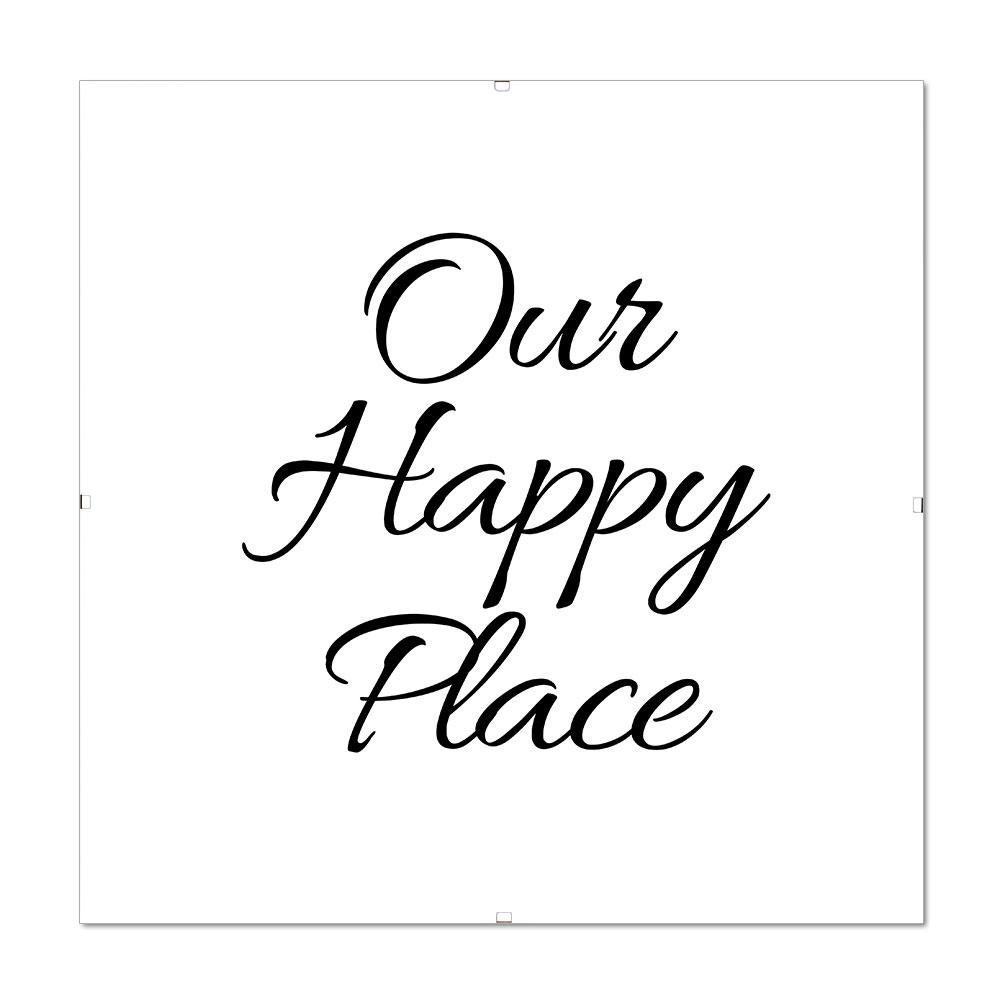 Bilderrahmen Mit Spruch Our Happy Place