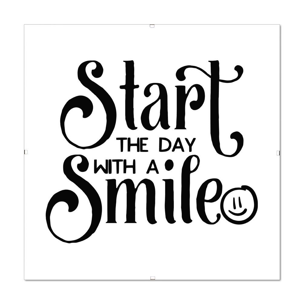 Bilderrahmen mit Spruch - Start The Day with a Smile