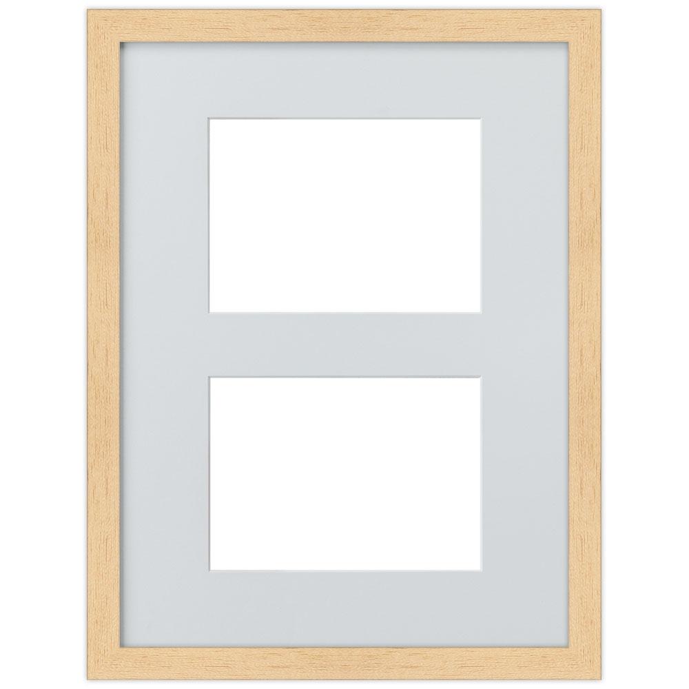 2er Galerierahmen aus Holz in 30x40 cm natur