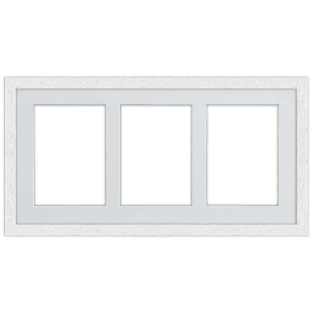 3er Galerierahmen aus Holz in 25x50 cm weiß