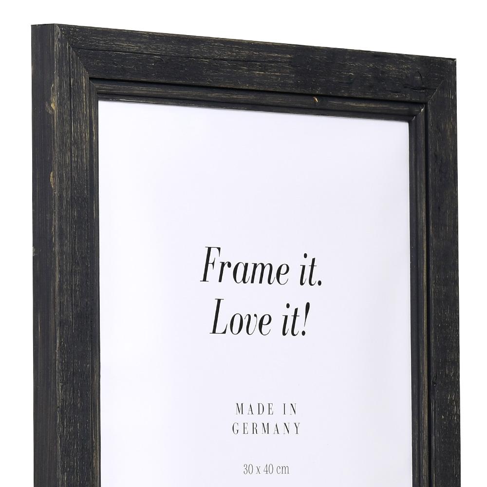 Holz-Bilderrahmen Lafat schwarz