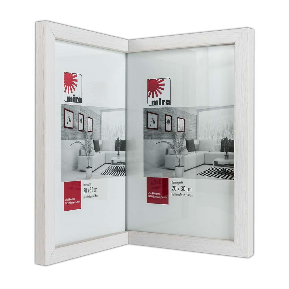 Mira In-die-Ecke-Rahmen 1:1, schmal 2x 10x15 cm - Cremeweiß ...