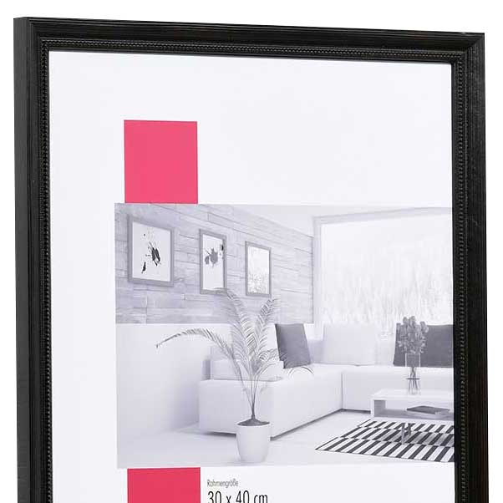 mira holz bilderrahmen marsac 50x70 cm schwarz. Black Bedroom Furniture Sets. Home Design Ideas