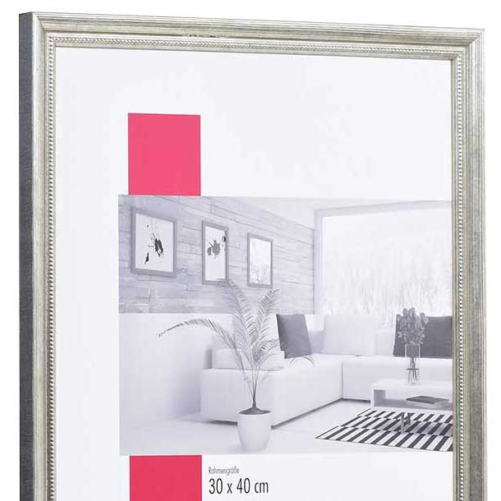 Mira Holz-Bilderrahmen Marsac 42x59,4 cm (A2) - silber | AllesRahmen.de