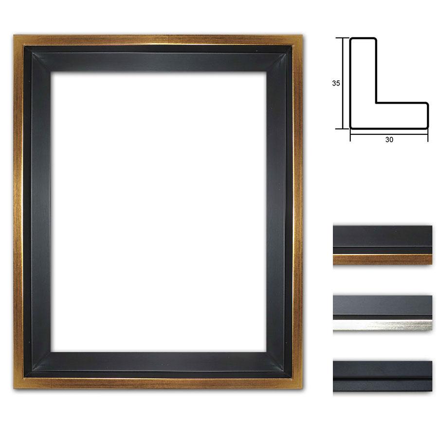 mira schattenfugenrahmen eclipse schwarz 20x20 cm schwarz mit silberkante. Black Bedroom Furniture Sets. Home Design Ideas