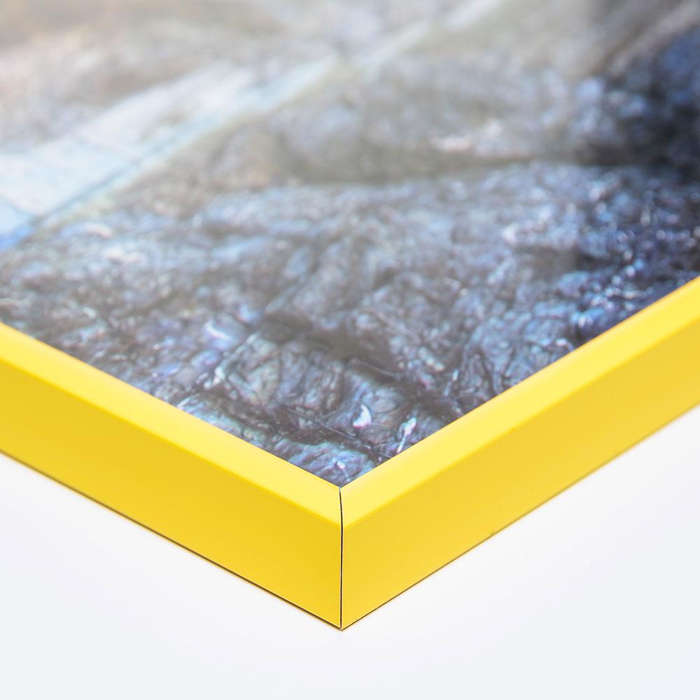 Kunststoff-Puzzlerahmen für 100 bis 500 Teile gelb
