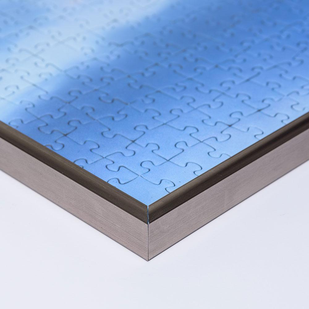 Kunststoff-Puzzlerahmen für 1000 Teile platin