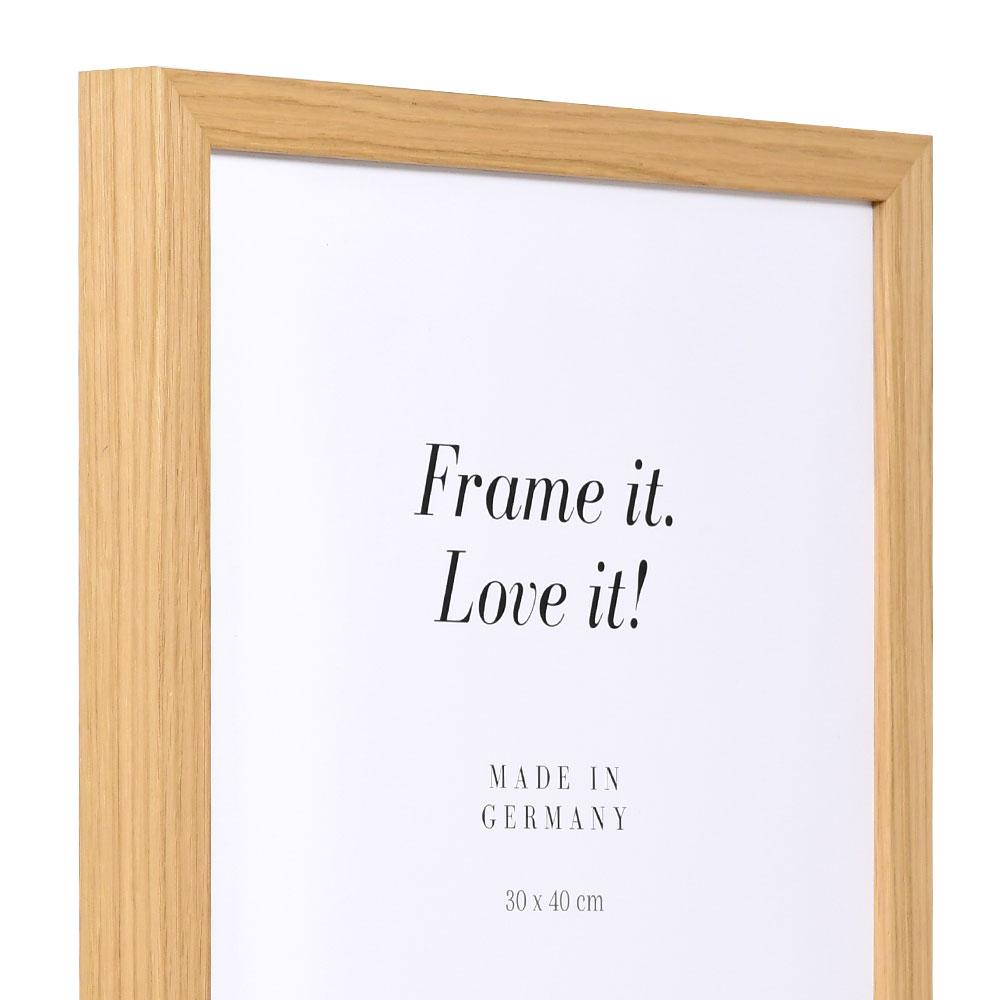 mira holz bilderrahmen banize 70x100 cm eiche. Black Bedroom Furniture Sets. Home Design Ideas
