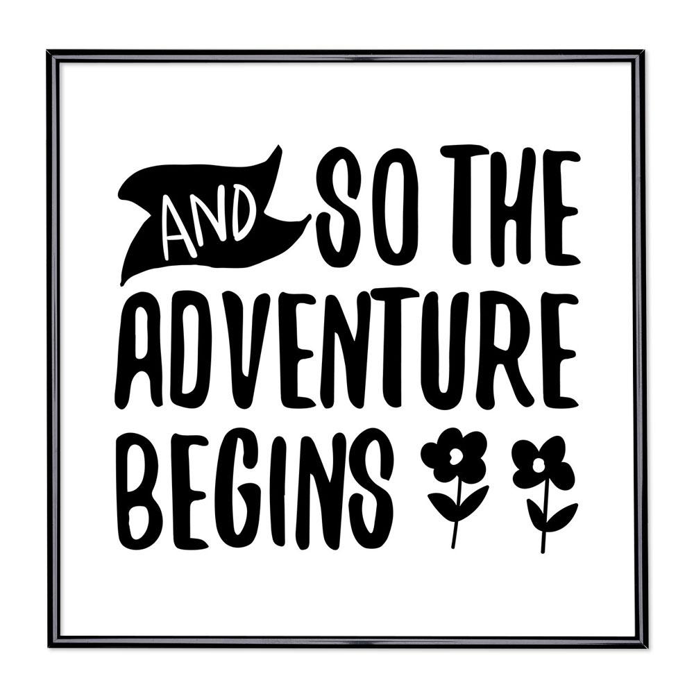 Bilderrahmen mit Spruch - And So The Adventure Begins