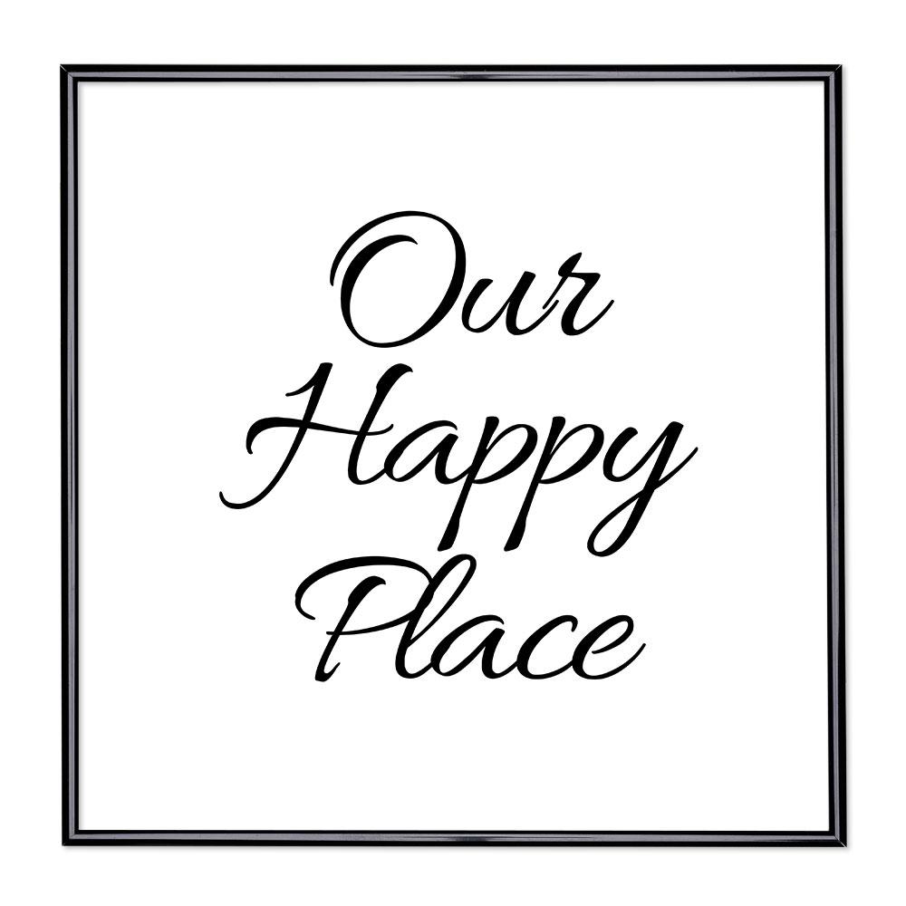 Bilderrahmen mit Spruch - Our Happy Place