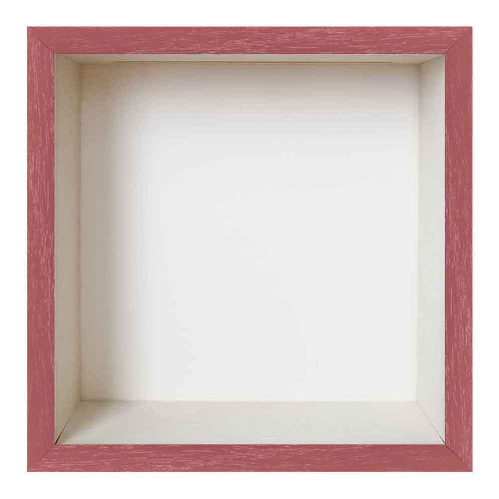 Spardosenrahmen Rot mit weißer Box