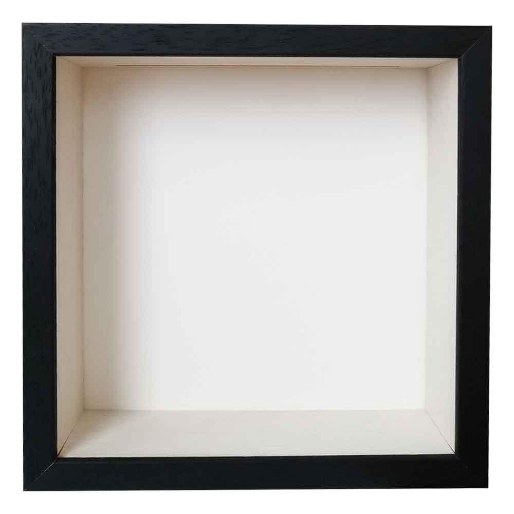 Spardosenrahmen Schwarz mit weißer Box
