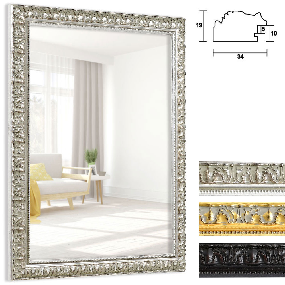 mira spiegelrahmen cassis ma anfertigung silber. Black Bedroom Furniture Sets. Home Design Ideas