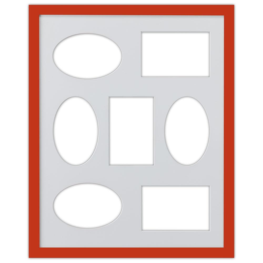 7er Galerierahmen Top Cube in 40x50 cm rot